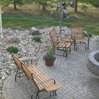 Paving stone fire pit